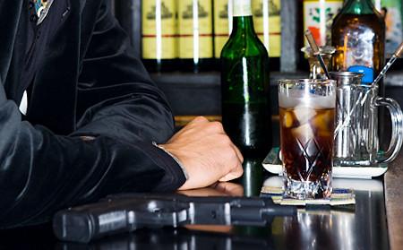 Yakuza in a bar Original Filename: 81710930.jpg