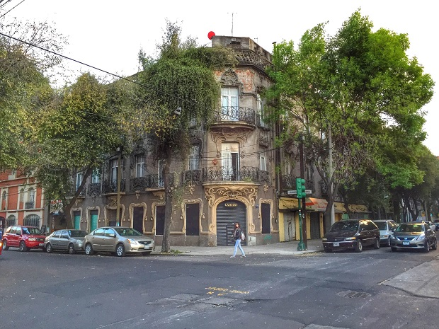 Art Nouveau building in Mexico City, Roma Norte