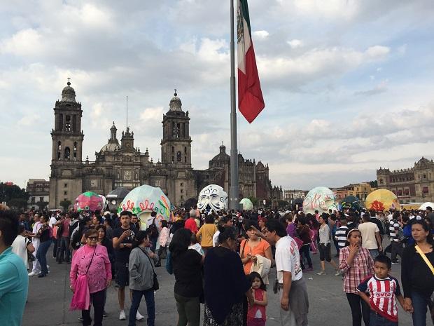 day of the dead celebration zocalo mexico city