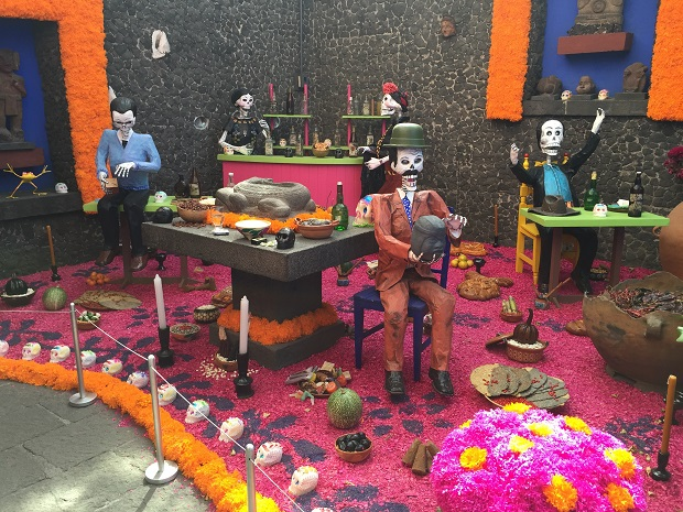 day of the dead offering at the Frida Kahlo Museum, mexico city