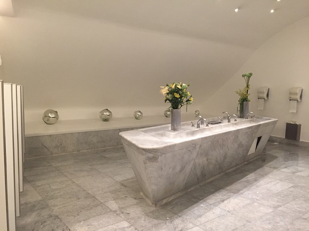 modern elegant bathroom, soumaya museum, museo soumaya, mexico city