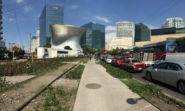 nuevo polanco, plaza carso, museo soumaya, panorama