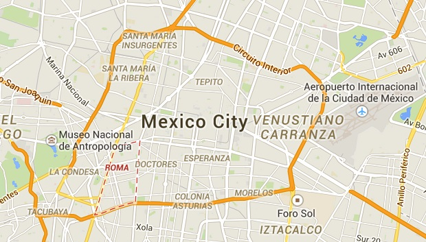 roma mexico city map