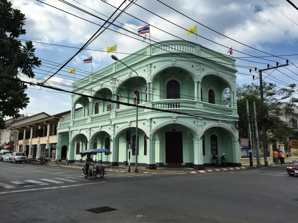 historic architecture in Phuket Town, Phuket, Thailand