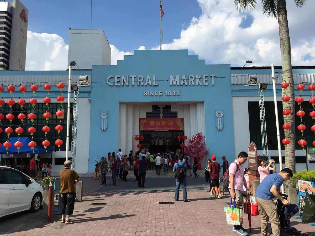 art deco central market in Kuala Lumpur