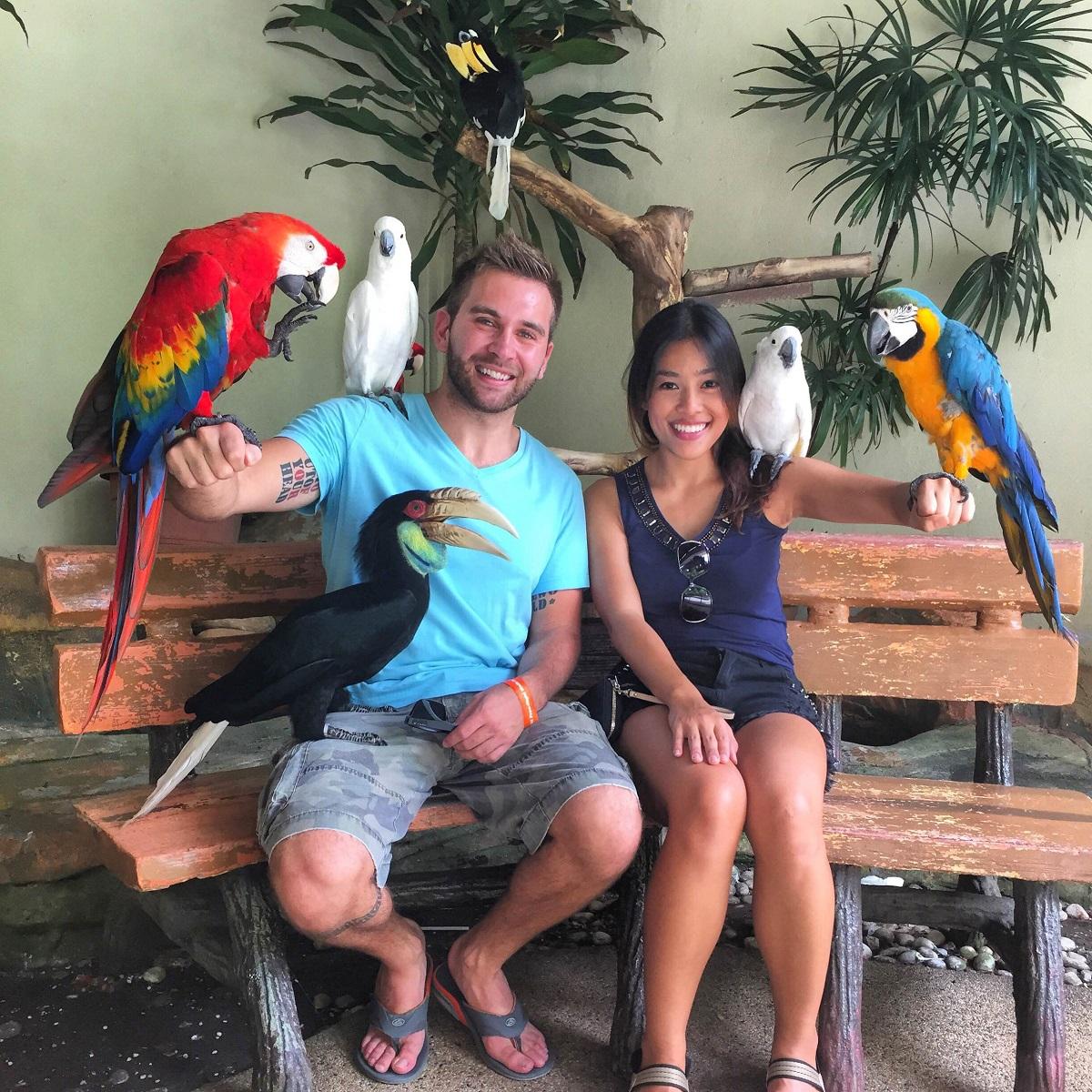 bird park in Kuala Lumpur, Malayasia