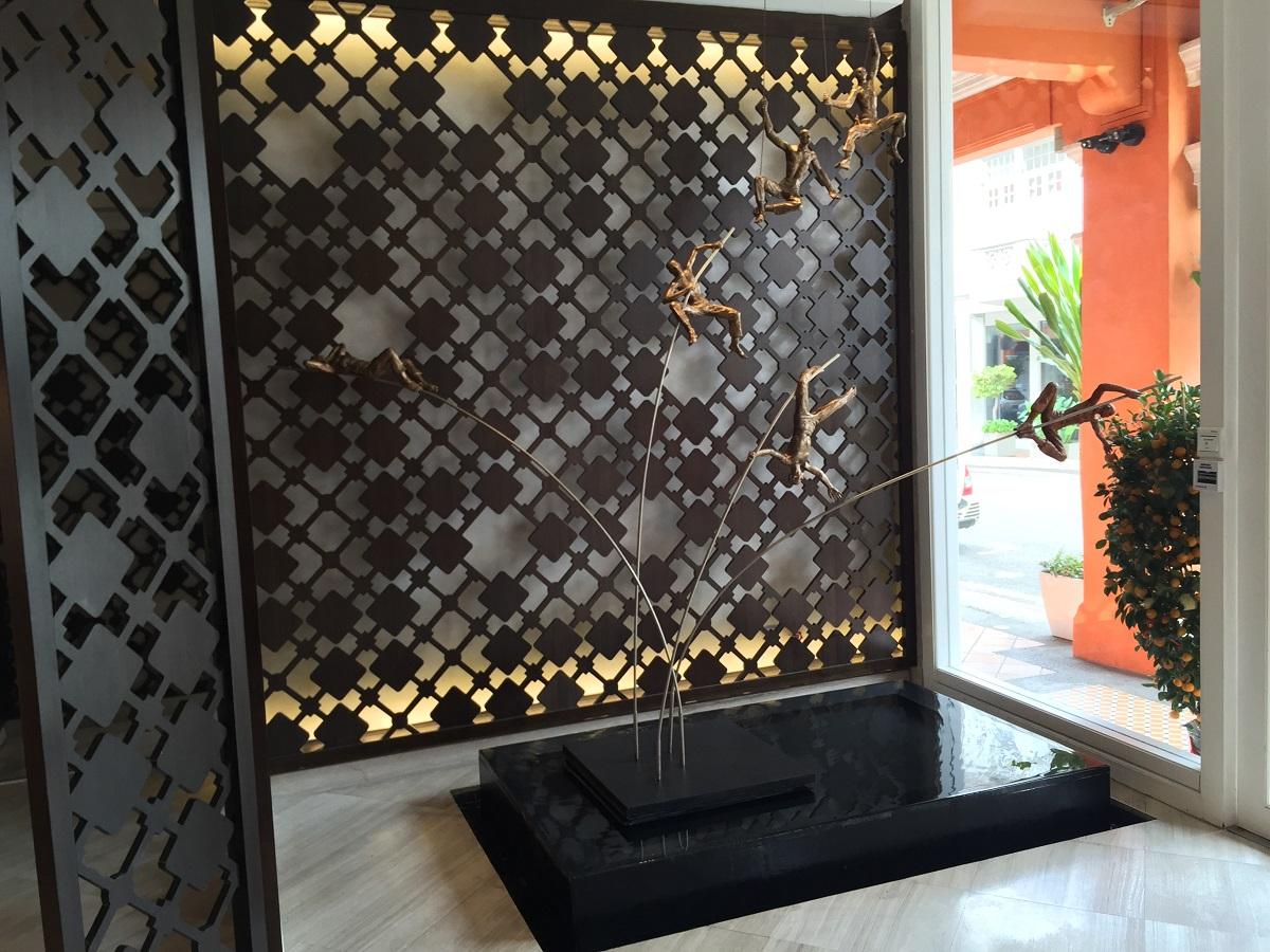 lobby of Naumi Liora Hotel, Singapore