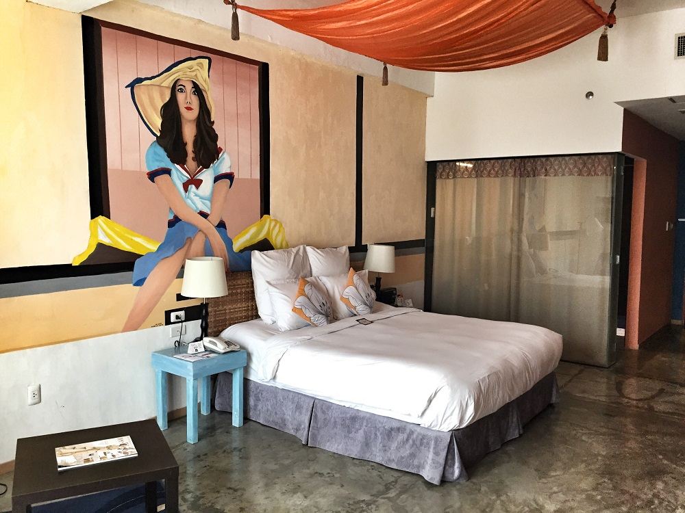 modern hotel room at the henry hotel in Cebu