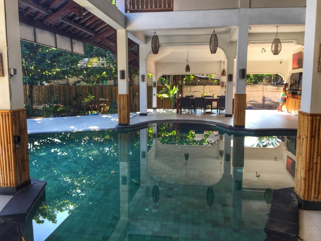 training pool at Lutwala Dive Center on Gili T