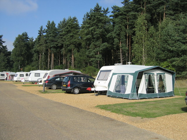 Where are the best places to go caravanning in England? ... photo by CC user Peter Wasp on geograph.org.uk