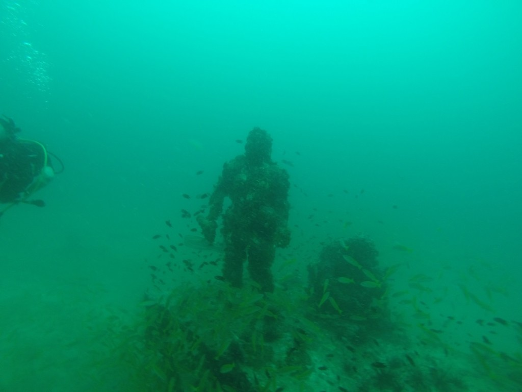 underwater statue in thailand
