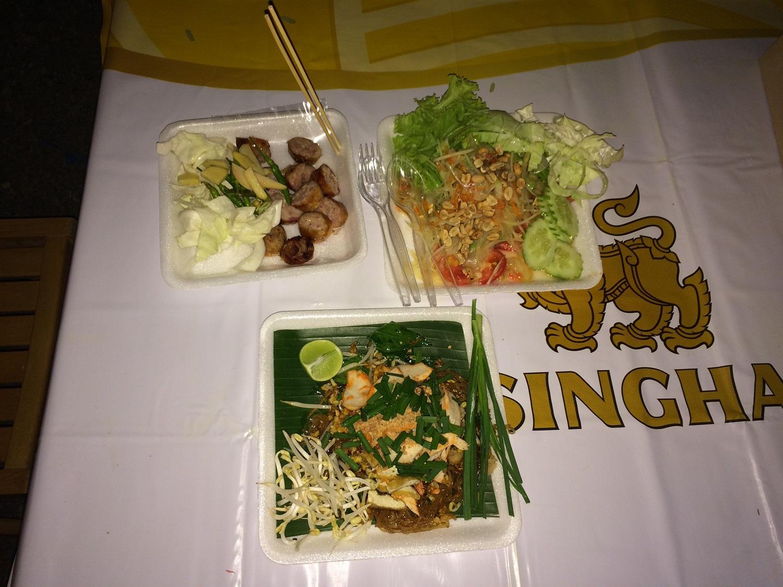 food at the Cicada Market in Hua Hin, Thailand