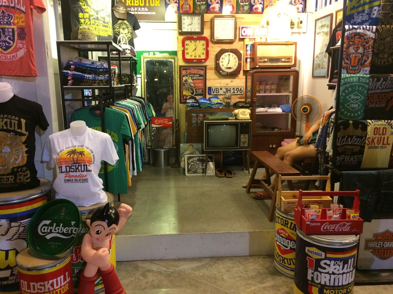 vintage shop at the Cicada Market in Hua Hin, Thailand