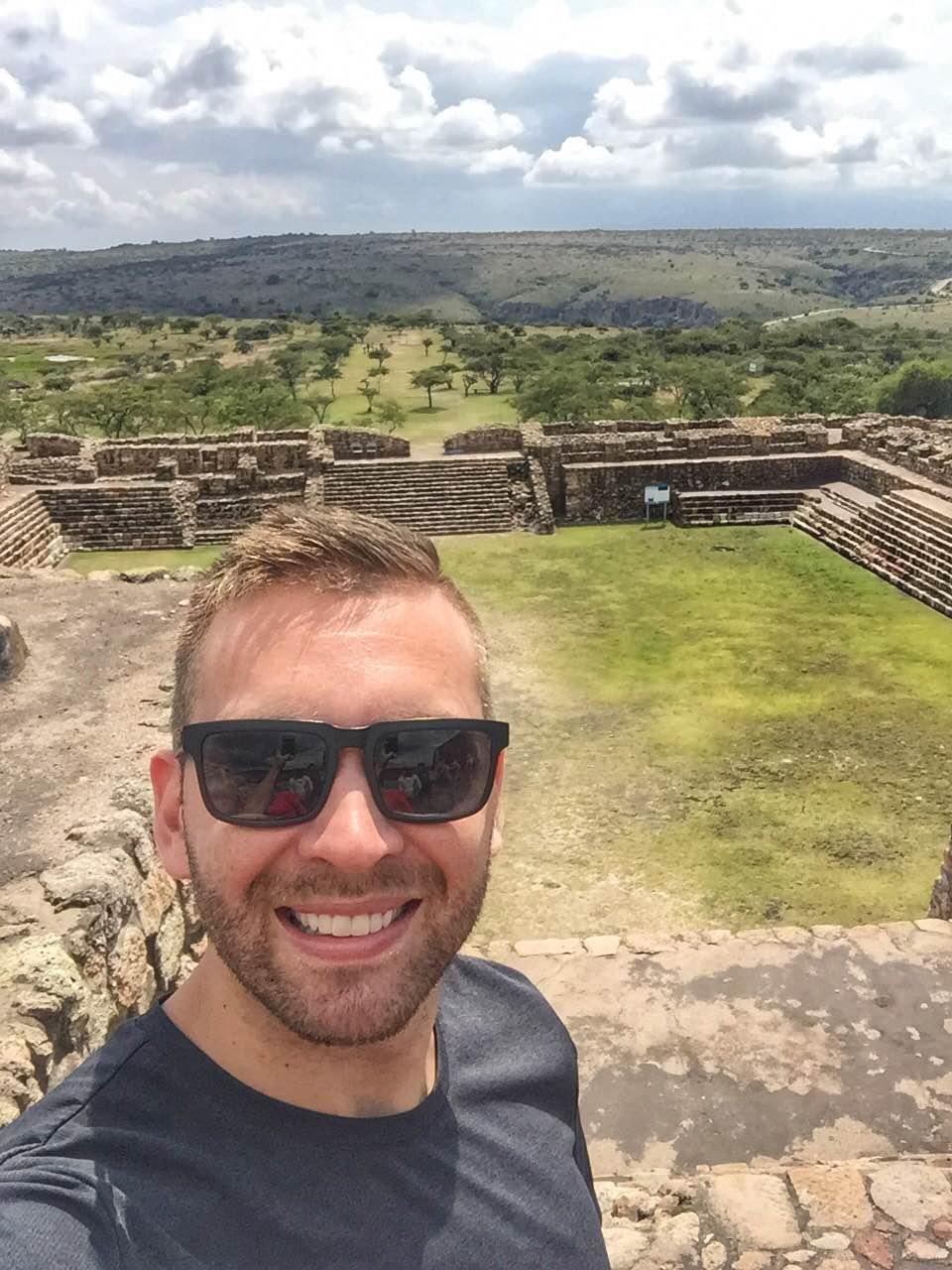 view from the top of canada de virgen ruins in San Miguel de Allende
