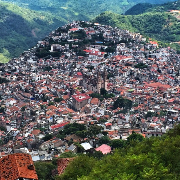 view of taxco from the jesus statue