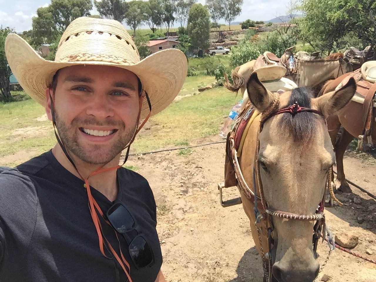 jeremy albelda horseback riding in Guanajuato, Mexico
