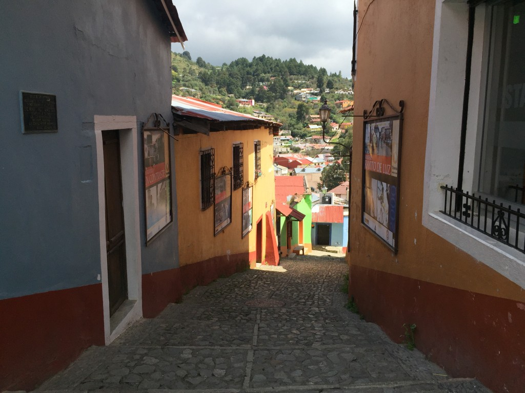 small street in real del monte Hidalgo