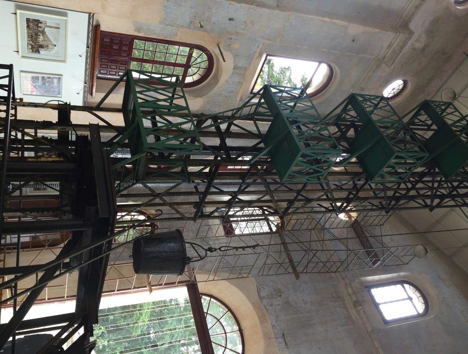 crane elevator in real del monte Hidalgo Mexico