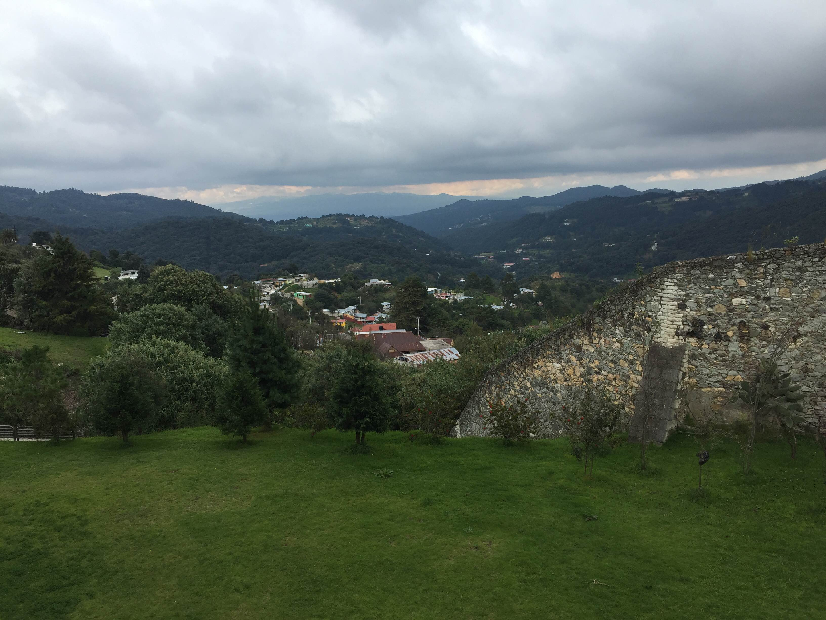 view from the miningmusem in mineral de monte