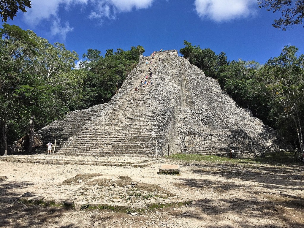Coba Ruins on my motorcycle road trip in Mexico