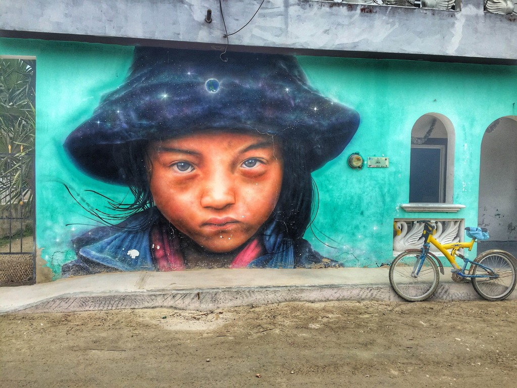 artwork in Holbox, Mexico