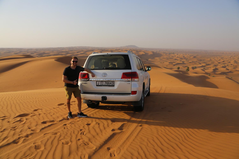 dunes on a desert safari dubai in the UAE
