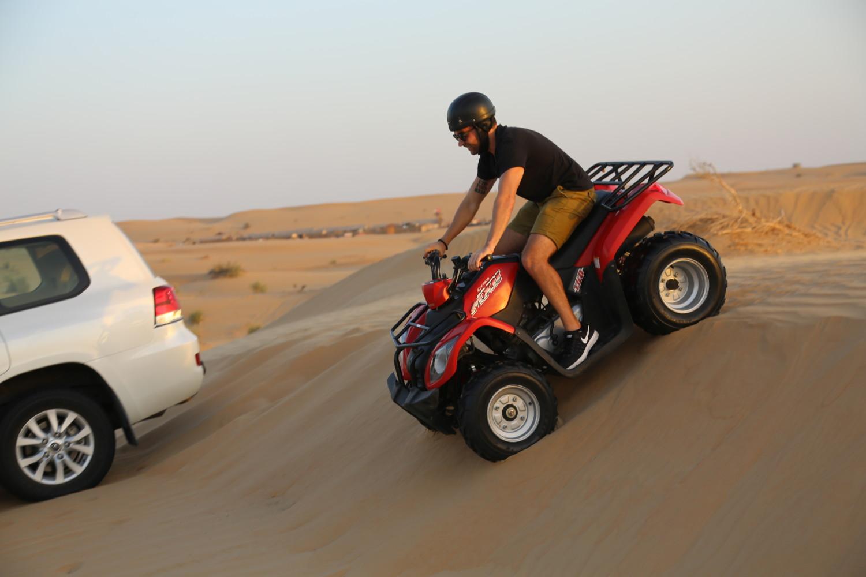 atv riding on my desert safari Dubai
