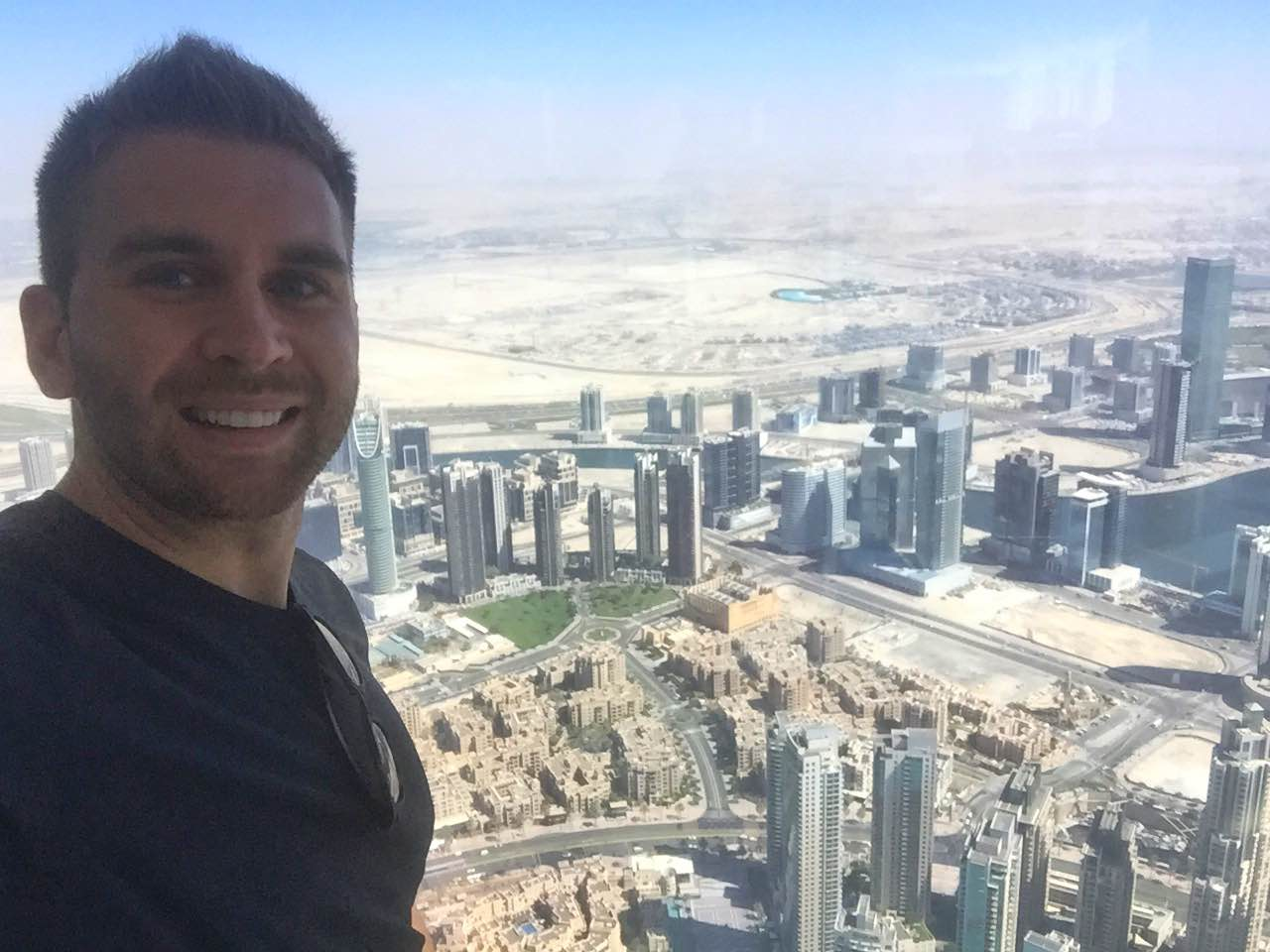 View from the top of the Burj Khalifa in Dubai